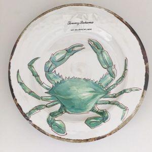 Tommy Bahama Set of 4 Melamine Crab Dinner Plates